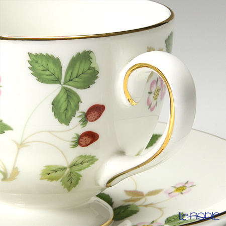 Wedgwood 'Wild Strawberry' Leigh Tea Cup & Saucer, Windsor Plate (set of 3 for 1 person)