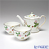 Wedgwood 'Wild Strawberry' Japanese Tea Cup, Japanese Tea Pot (set of 3 for 2 persons)