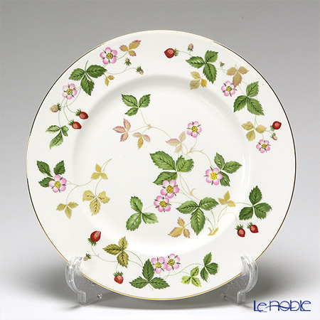 """Wedgwood 'Wild Strawberry' """"Starter set"""" Leigh Tea Cup & Saucer, Plate, Bowl (set of 4 for 1 person)"""