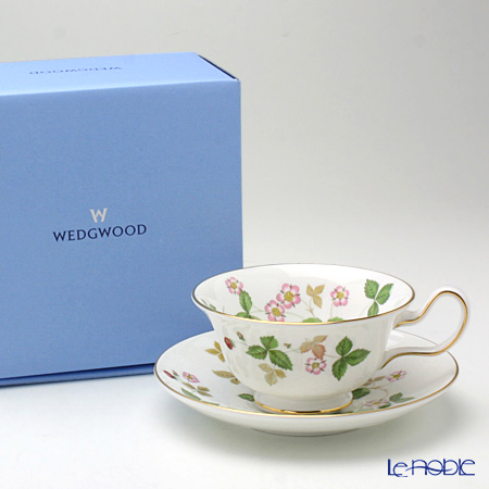 Wedgwood Wild Strawberry Peony Teacup & Saucer with gift box