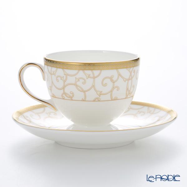 Wedgwood 'Celestial Gold' Leigh Tea Cup & Saucer 200ml (set of 2)