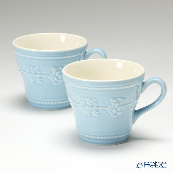 Wedgwood 'Earthenware - Festivity' Blue Mug 350ml (set of 2)