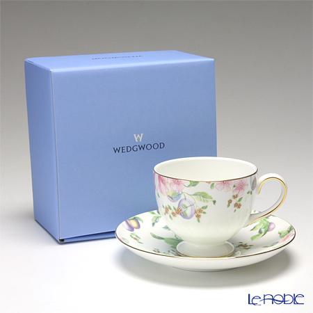 ウェッジウッド(Wedgwood) スウィートプラム ティーカップ&ソーサー(リー) 【ブランドボックス付】
