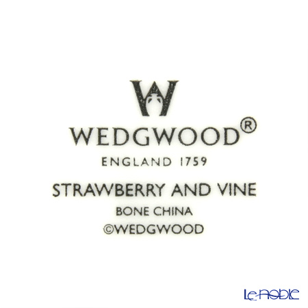ウェッジウッド(Wedgwood) ストロベリー&バインサラダソーサー 18cm 4枚セット