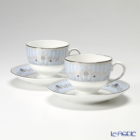 Wedgwood Alexandra Leigh Tea Cup & Saucer 150ml (set of 2)