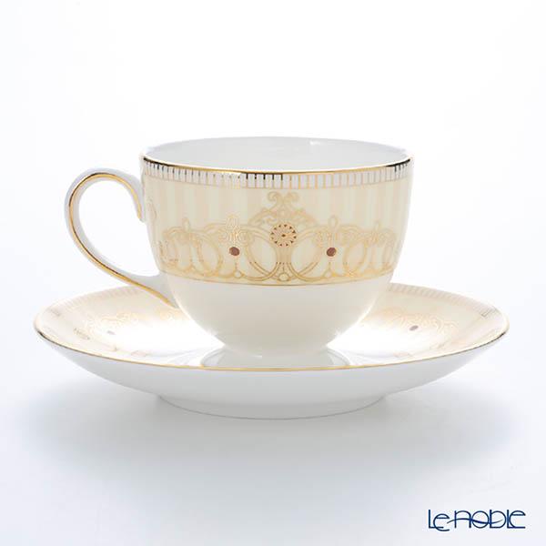 Wedgwood 'Alexandra Champagne' Leigh Tea Cup & Saucer 200ml (set of 2)