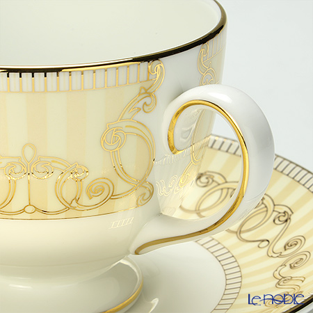 Wedgwood 'Alexandra (Blue) / Alexandra Champagne' Leigh Tea Cup & Saucer 200ml (set of 2 colors)