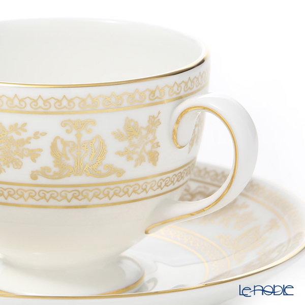 Wedgwood 'Gold Columbia' Leigh Tea Cup & Saucer, Plate (set of 2 for 1 person)
