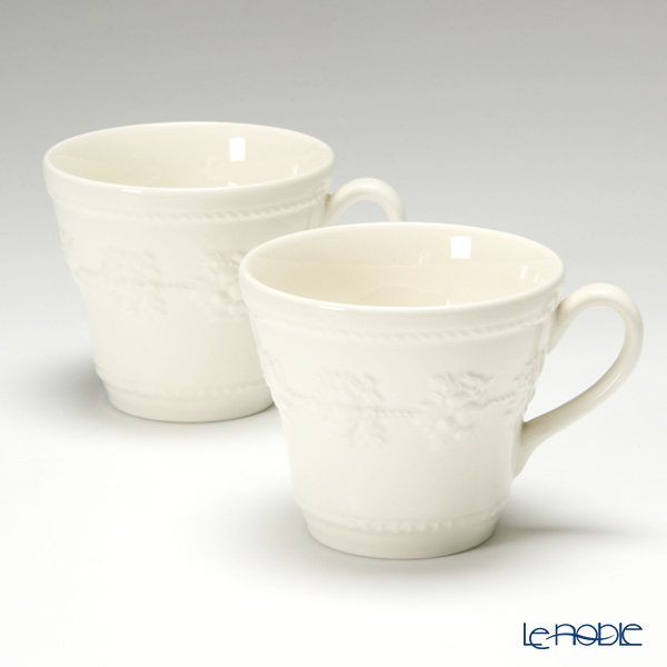 Wedgwood 'Earthenware - Festivity' Ivory Mug 350ml (set of 2)