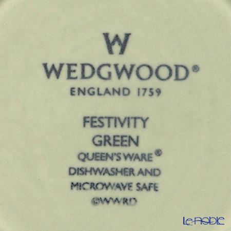 ウェッジウッド(Wedgwood) フェスティビティマグ 300cc(セージグリーン&ピンク) ペア 【ブランドボックス付】