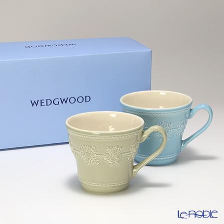 ウェッジウッド(Wedgwood) フェスティビティマグ 300cc(セージグリーン&ブルー) ペア 【ブランドボックス付】