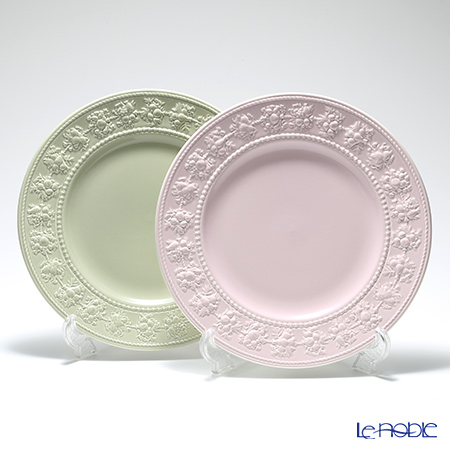 Wedgwood 'Earthenware - Festivity' Sage Green & Pink Plate 27cm (set of 2 colors)