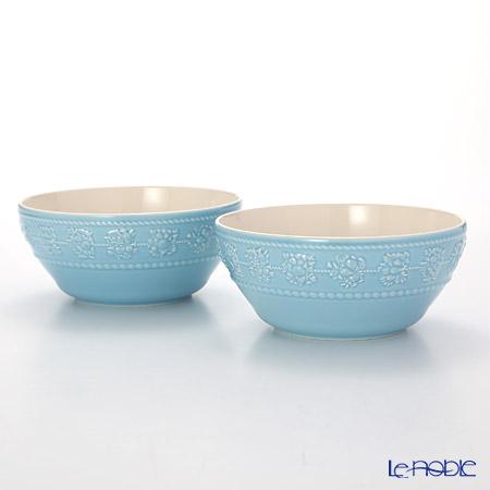 Wedgwood 'Earthenware - Festivity' Blue Bowl 15cm (set of 2)
