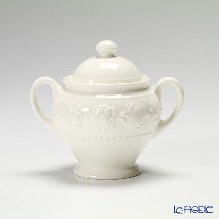 Wedgwood 'Earthenware - Festivity' Ivory Tea Pot , Sugar Pot, Creamer (set of 3)