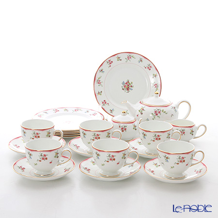 Wedgwood Floret 23 pcs set for 6, Leigh type