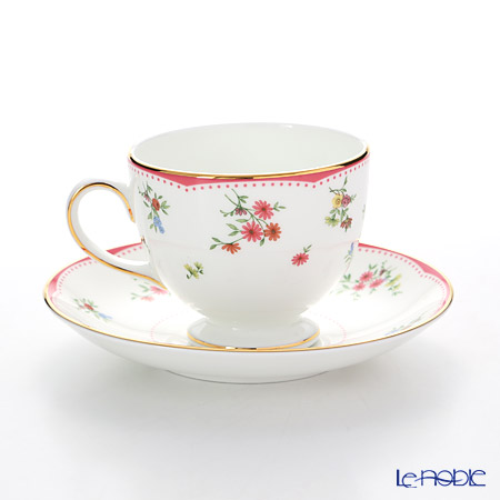 Wedgwood Floret Plate 20 cm and Leigh Teacup & Saucer