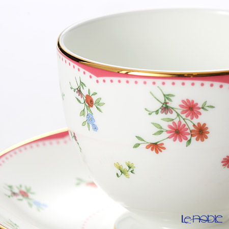 Wedgwood Floret Leigh Teacup & Saucer (Set of 2)
