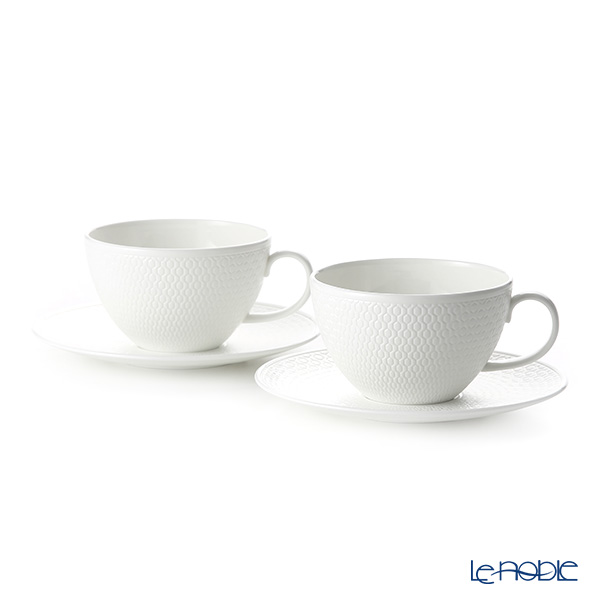 Wedgwood Gio Tea Cup & Saucer 340ml (set of 2)