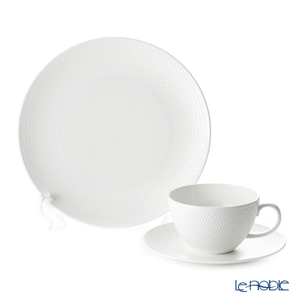 Wedgwood 'Gio' Tea Cup & Saucer, Plate (set of 2 for 1 person)