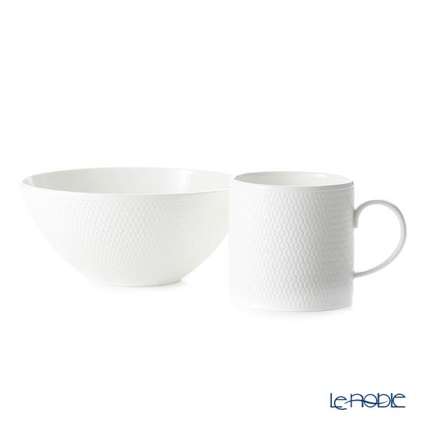 Wedgwood 'Gio' Mug, Bowl (set of 2 for 1 person)