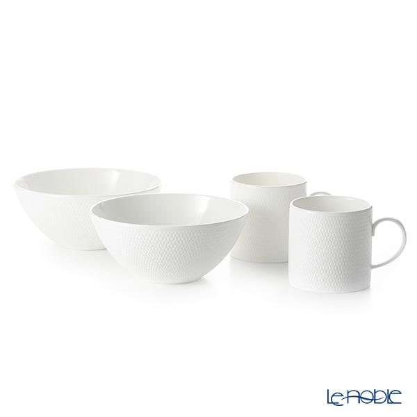 Wedgwood 'Gio' Mug, Bowl (set of 4 for 2 persons)