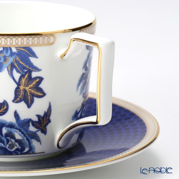 Wedgwood 'Hibiscus' Blue Tea Cup & Saucer 220ml (set of 2)