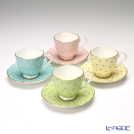 Wedgwood Polka Dot Tea Story Coffee Cup and Saucer 4 colors