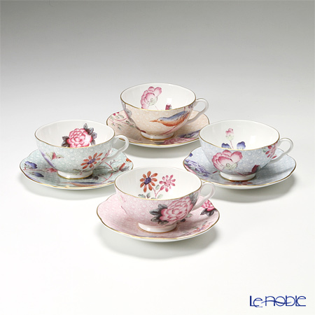 Wedgwood 'Cuckoo' Tea Cup & Saucer 280ml (set of 4 colors)