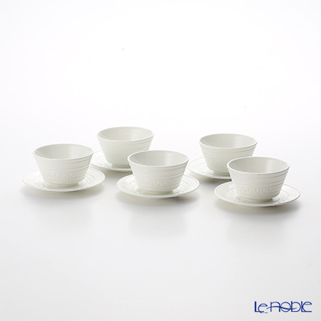 Wedgwood 'Intaglio' Japanese Tea Cup & Saucer 150ml (set of 5)
