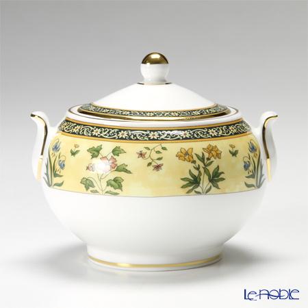 "Wedgwood India ""Leigh Tea set for 2 persons"" Tea Cup & Saucer, Plate, Tea Pot, Sugar Pot, Creamer (set of 7)"