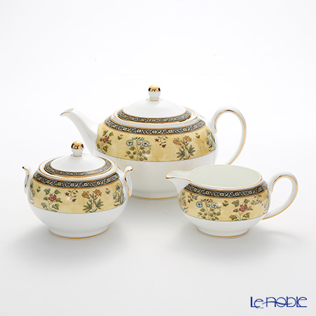 "Wedgwood India ""Tea Pot set"" Tea Pot, Sugar Pot, Creamer (set of 3)"