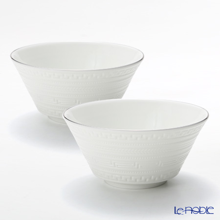 Wedgwood Intaglio Plutinum Cereal Bowl 15 cm set of 2