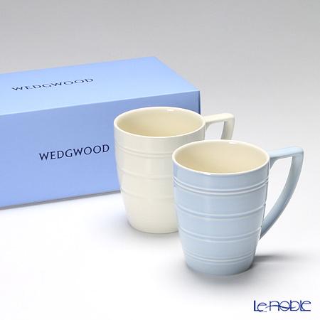 ウェッジウッド(Wedgwood) ジャスパーコンラン カジュアルマグ(ブルー&ホワイト) ペア 【ブランドボックス付】
