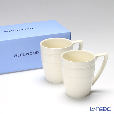 ウェッジウッド(Wedgwood) ジャスパーコンラン カジュアルマグ(ホワイト) ペア 【ブランドボックス付】
