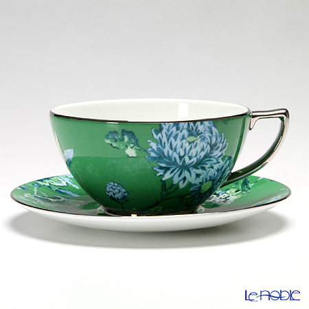 Wedgwood Jasper Conran Chinoiserie White & Green Plate 23 cm and Teacup & saucer