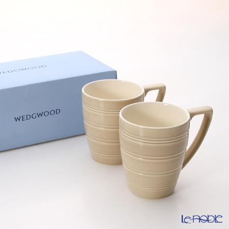 ウェッジウッド(Wedgwood) ジャスパーコンラン カジュアルマグ(ブラウン) ペア 【ブランドボックス付】
