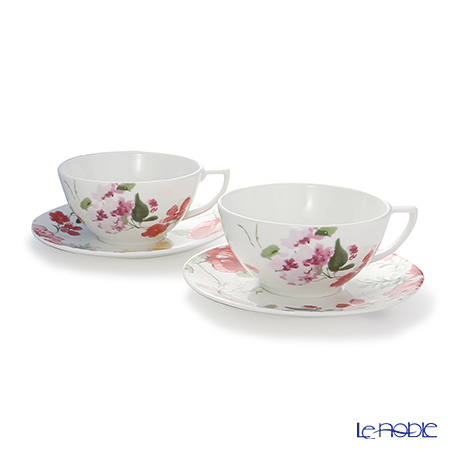Wedgwood 'Jasper Conran - Floral' Tea Cup & Saucer 300ml (set of 2)