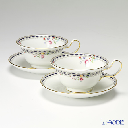Wedgwood Lace Peony Peony Teacup & Saucer (Set of 2)