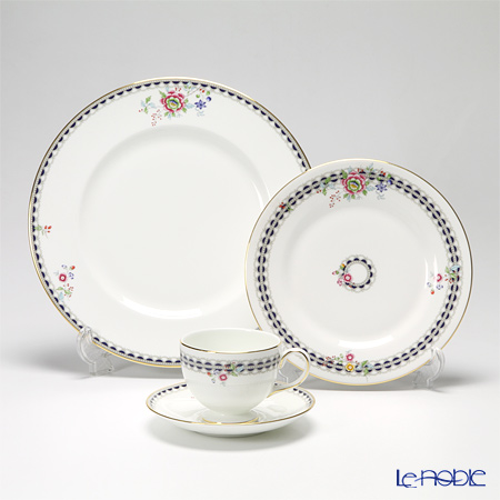 "Wedgwood 'Lace Peony' ""Starter set"" Peony Tea Cup & Saucer, Plate (set of 3 for 1 person)"