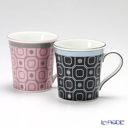 ウェッジウッド(Wedgwood) パラディオ マグ 300cc(ピンク&ブルー) ペア 【ブランドボックス付】
