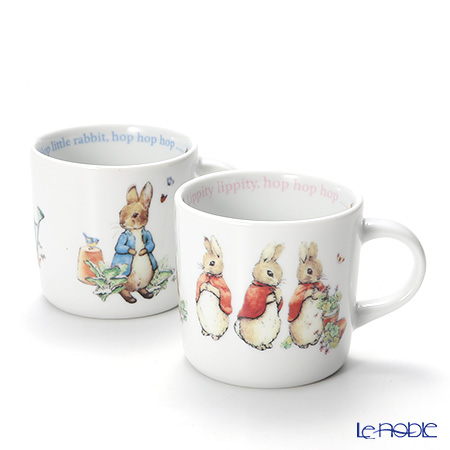 Wedgwood 'Peter Rabbit' Boy & Girl Mug 210ml (set of 2)