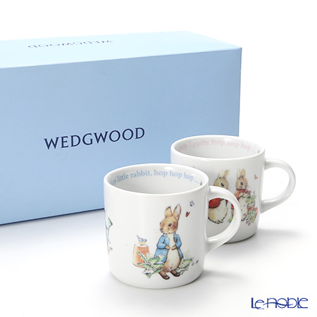Wedgwood Peter Rabbit Handle Mug Boy & Girl with gift box