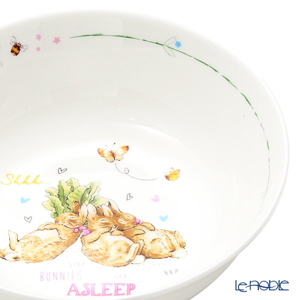 Wedgwood 'Peter Rabbit / Flopsy & Mopsy & Cottontail' Blue & Pink Bowl 15cm (set of 2)