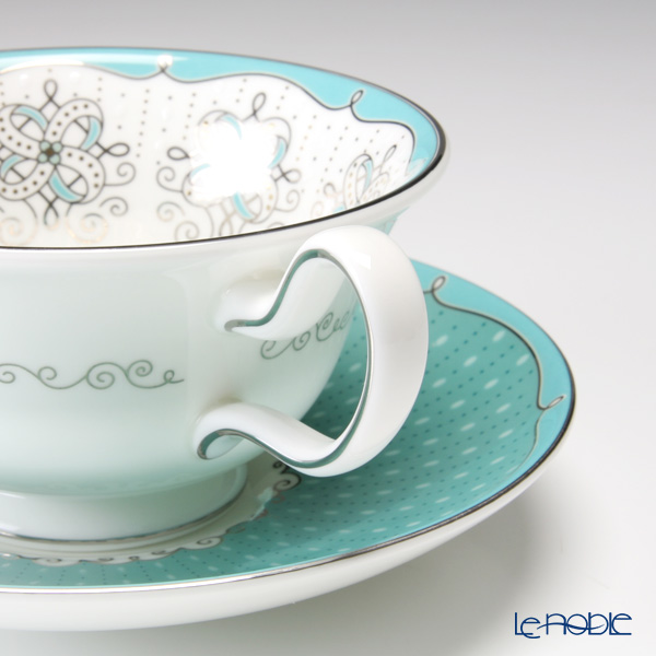 Wedgwood Psyche Peony Teacup and Saucer set of 2 with gift box