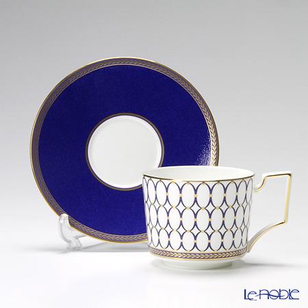 Wedgwood Renaissance Gold & Red Teacup & Saucer Set