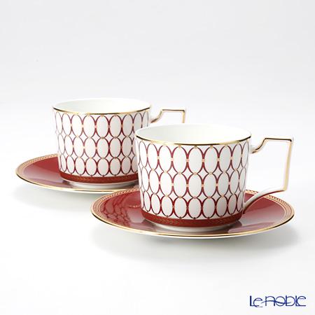 Wedgwood Renaissance Red Teacup & Saucer (Set of 2)