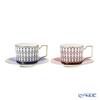 Wedgwood 'Renaissance Gold (Blue) & Red' Tea Cup & Saucer 220ml (set of 2 colors)