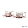 Wedgwood 'Renaissance Red' Tea Cup & Saucer 220ml (set of 2)