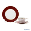Wedgwood 'Renaissance Red' Tea Cup & Saucer, Plate (set of 2 for 1 person)