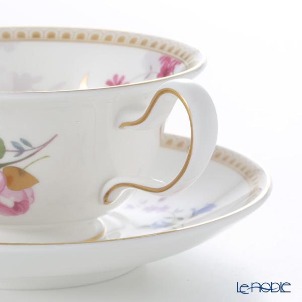 Wedgwood 'Rose Gold' Peony Tea Cup & Saucer 150ml (set of 2)